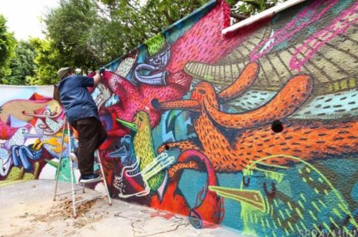 Journées du patrimoine 2019 - Performance d'art urbain avec Alëxone