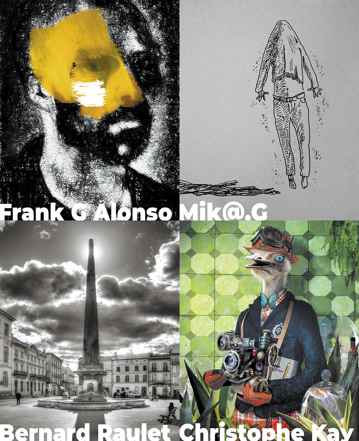 4 artistes, 4 univers.