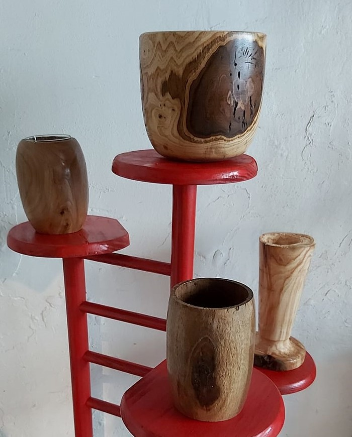 Journées du patrimoine 2020 - Atelier de Dominique, objets en bois