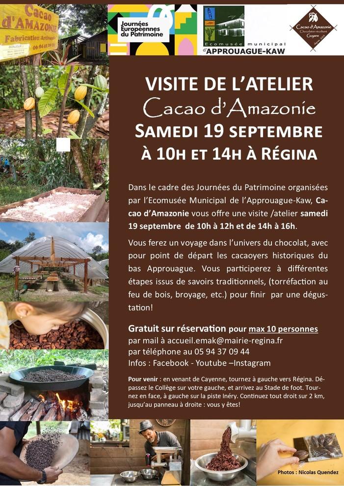 Journées du patrimoine 2020 - Visite de l'atelier Cacao d'Amazonie