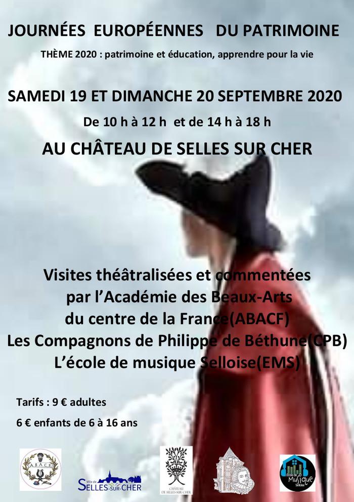 Journées du patrimoine 2020 - Visites théâtralisées et guidées sur l'histoire des costumes d'époque et des personnages illustres ayant vécu au château.
