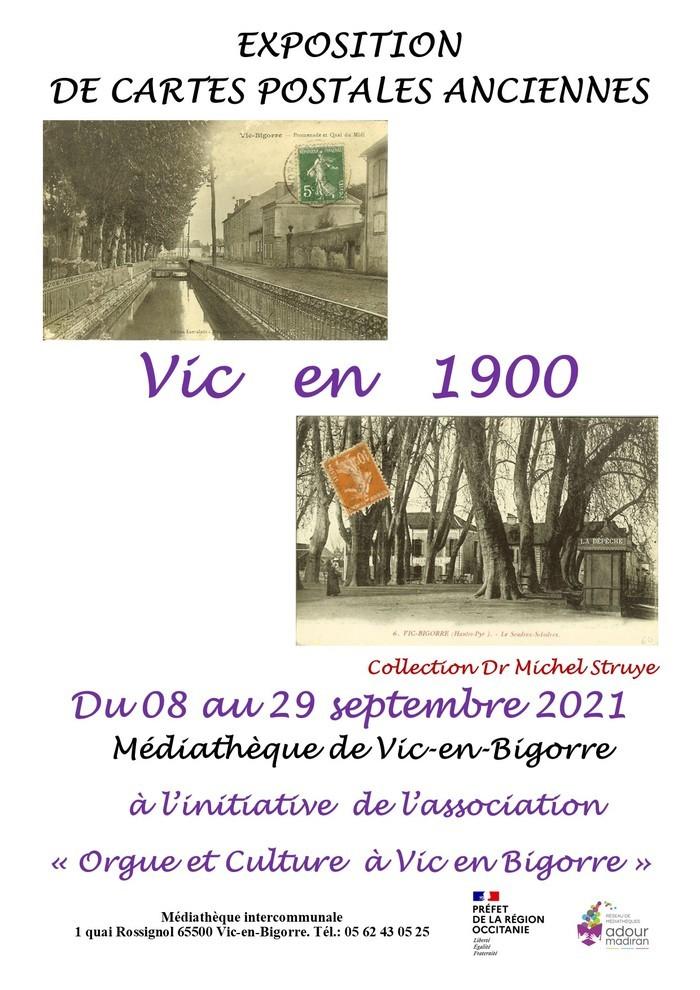 Vic en 1900: exposition de cartes postales anciennes