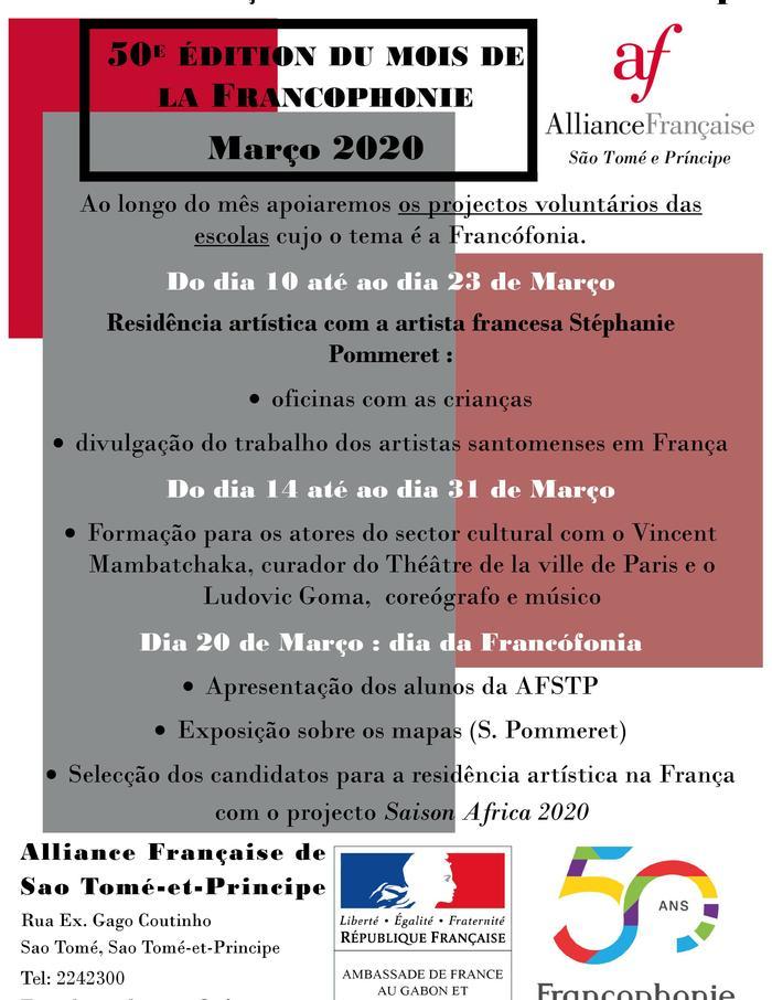 Programme culturel du mois de la Francophonie : ateliers, formations, résidences artistiques, appels à projet, exposition