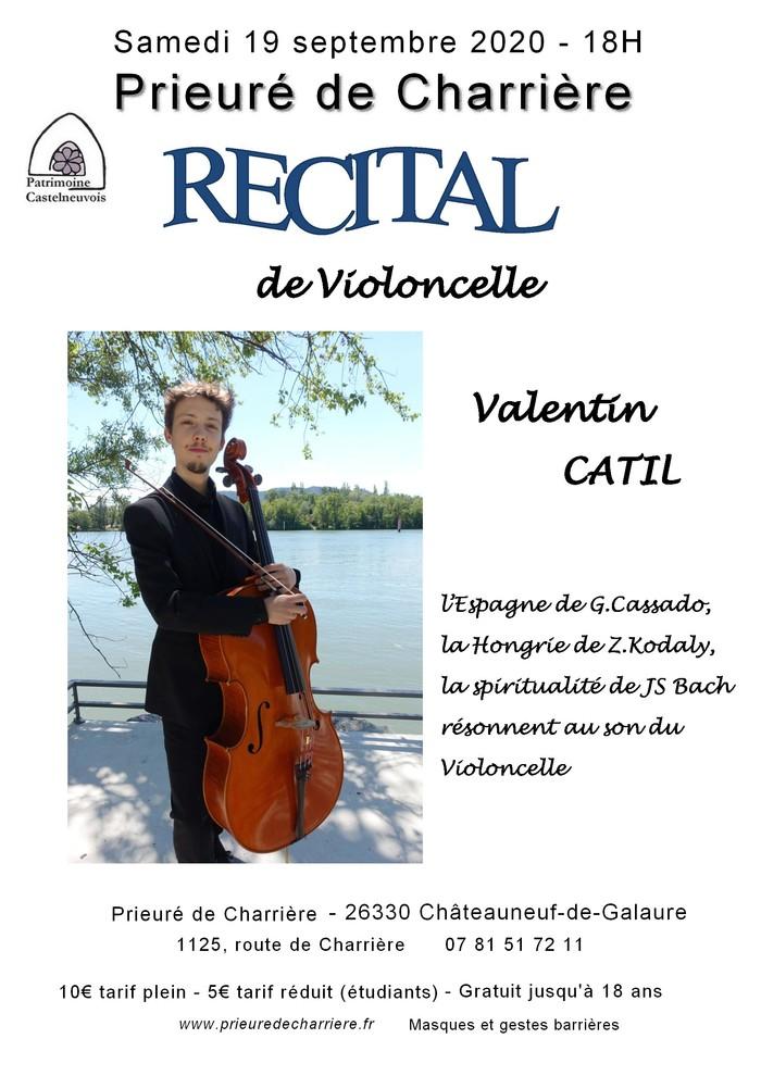 Journées du patrimoine 2020 - Récital de violoncelle Valentin Catil