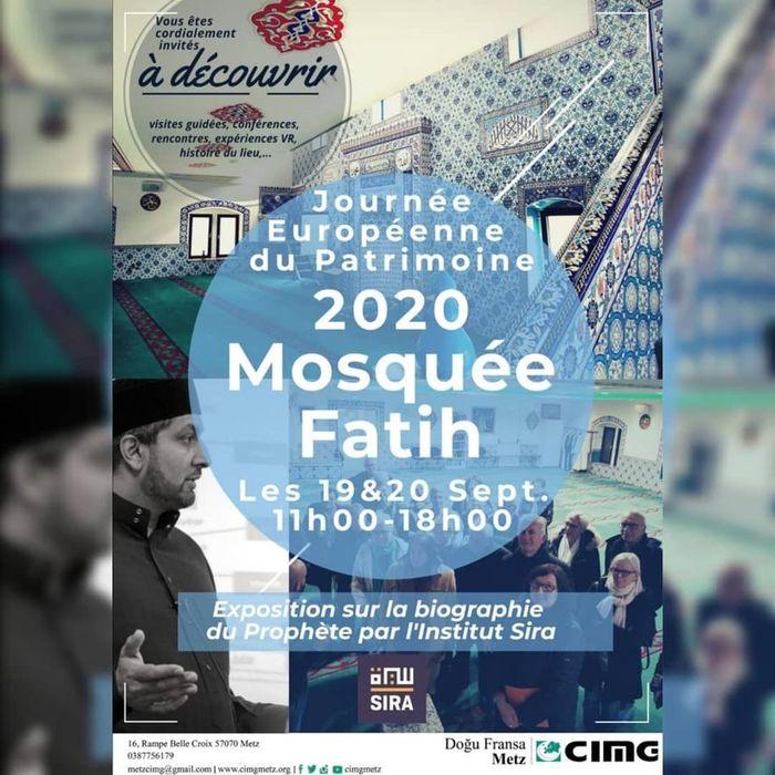 Journées du patrimoine 2020 - Découverte de la mosquée Fatih et de l'exposition par l'Institut Sira
