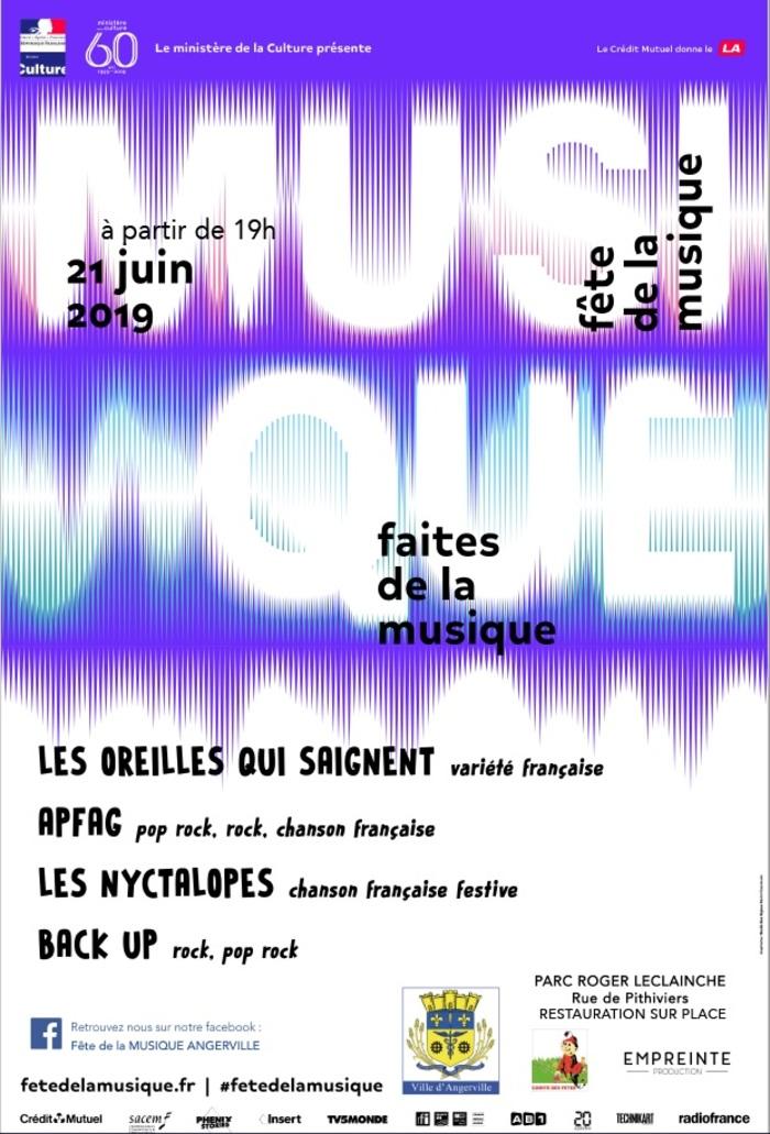 Fête de la musique 2019 - Les Oreilles Qui Saignent / Apfag / Les Nyctalopes / Back Up