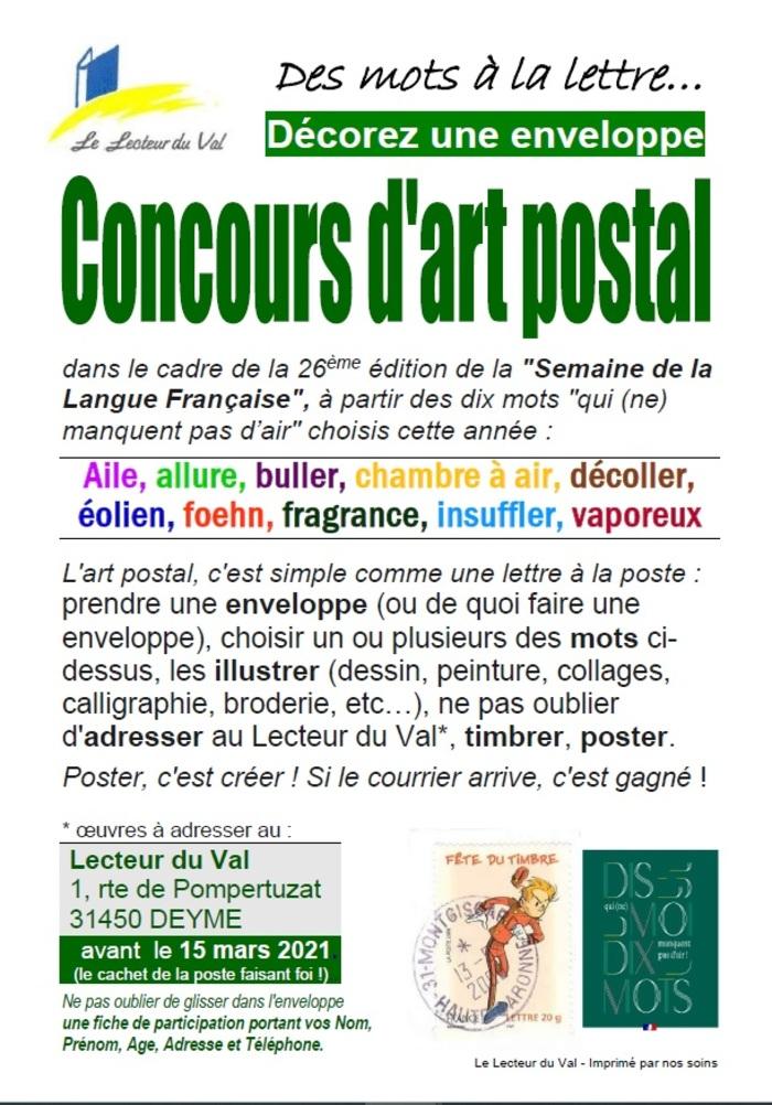 Concours d'Art postal, jusqu'au 15 mars 2021