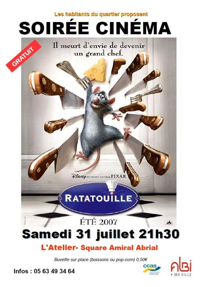 Une soirée cinéma en plein air est organisée sur le quartier de Lapanouse le samedi 31 juillet à 21h30.