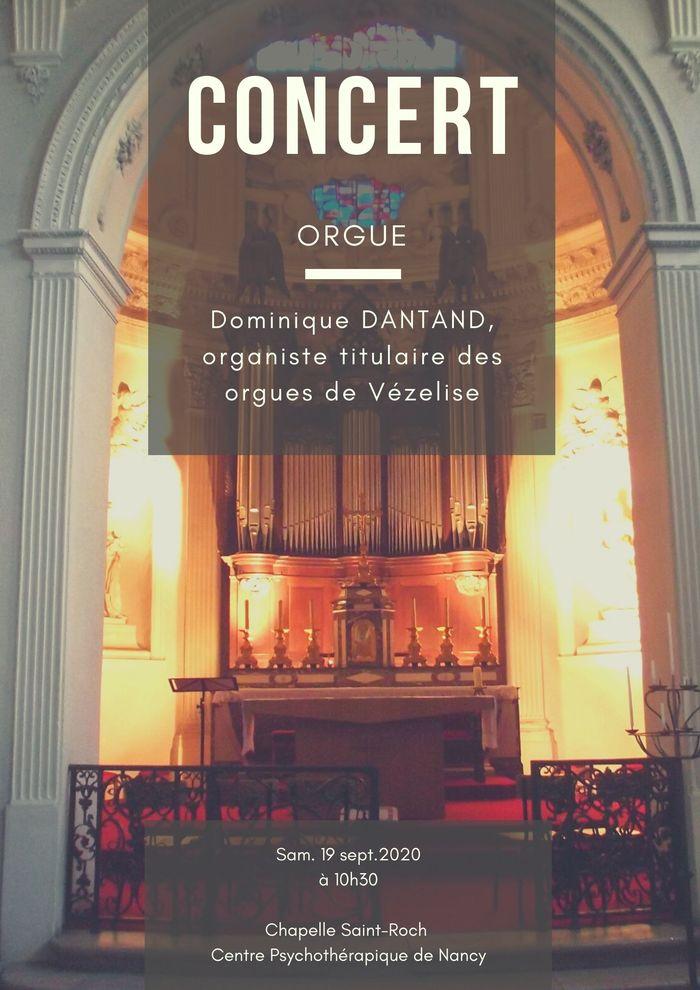 Journées du patrimoine 2020 - Concert d'orgue à la chapelle Saint-Roch
