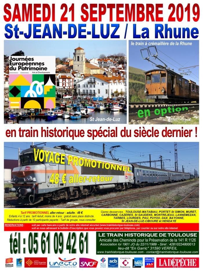 Journées du patrimoine 2019 - Voyage de Toulouse à Saint-Jean-de-Luz en train historique