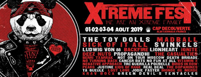 Pollux asso et X Fest organisation présentent la septième édition de l'Xtreme Fest, le festival dédié aux musiques extrêmes du Sud Ouest, du 1er au 4 août sur la base de loisirs de Cap Découverte.