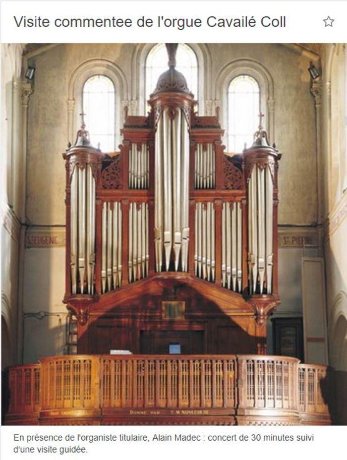 Journées du patrimoine 2020 - Visite commentée de l'orgue Cavailé-Coll