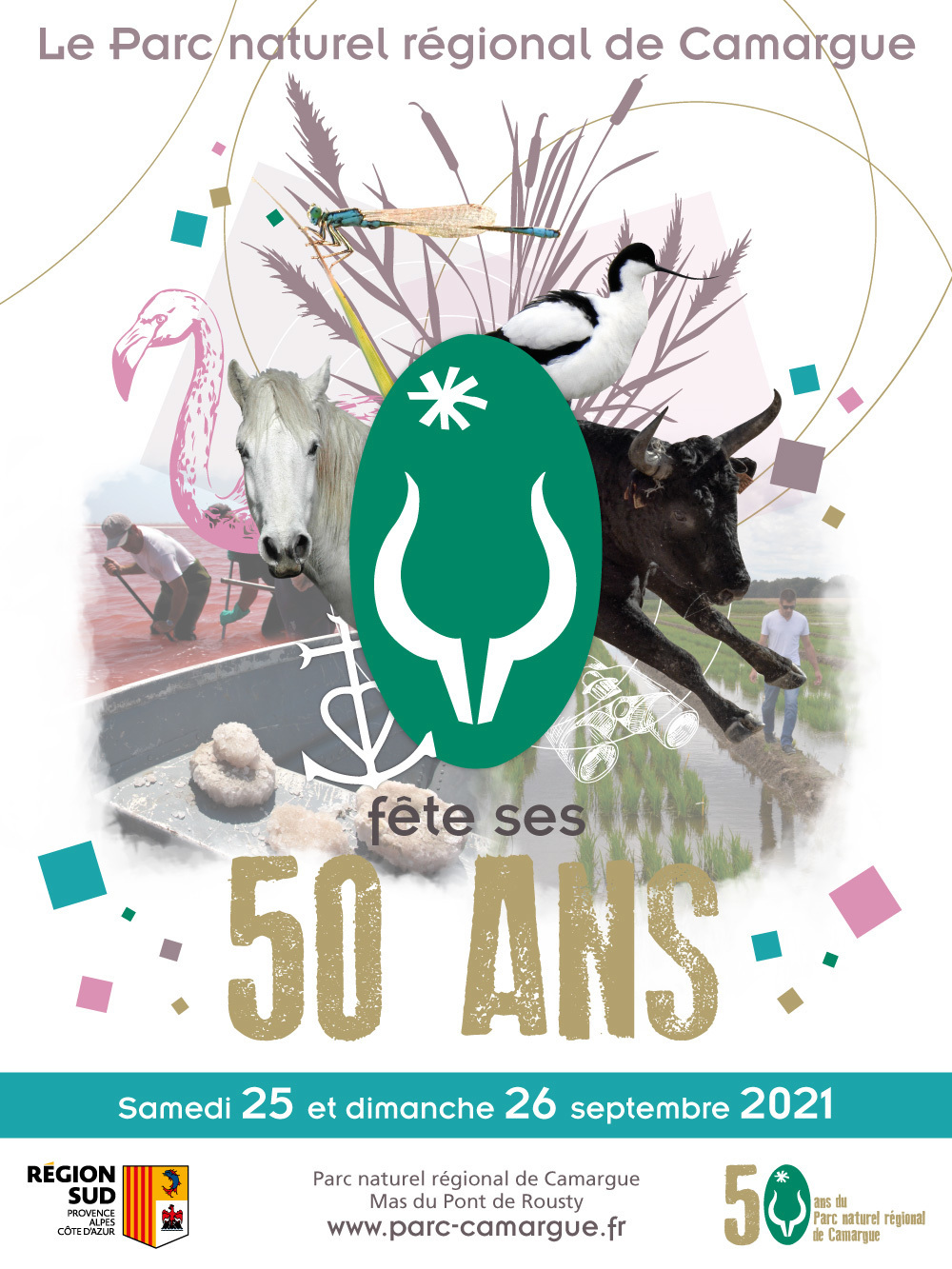 Pour ses 50 ans, le Parc naturel régional de Camargue propose un programme pour petits et grands afin de marquer 50 ans d'actions destinées à concilier protection de la nature et activités humaines...