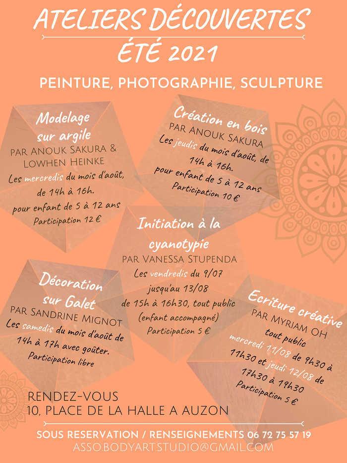 Écriture créative + Lecture visuelle de Myriam OH & phormazero à Auzon