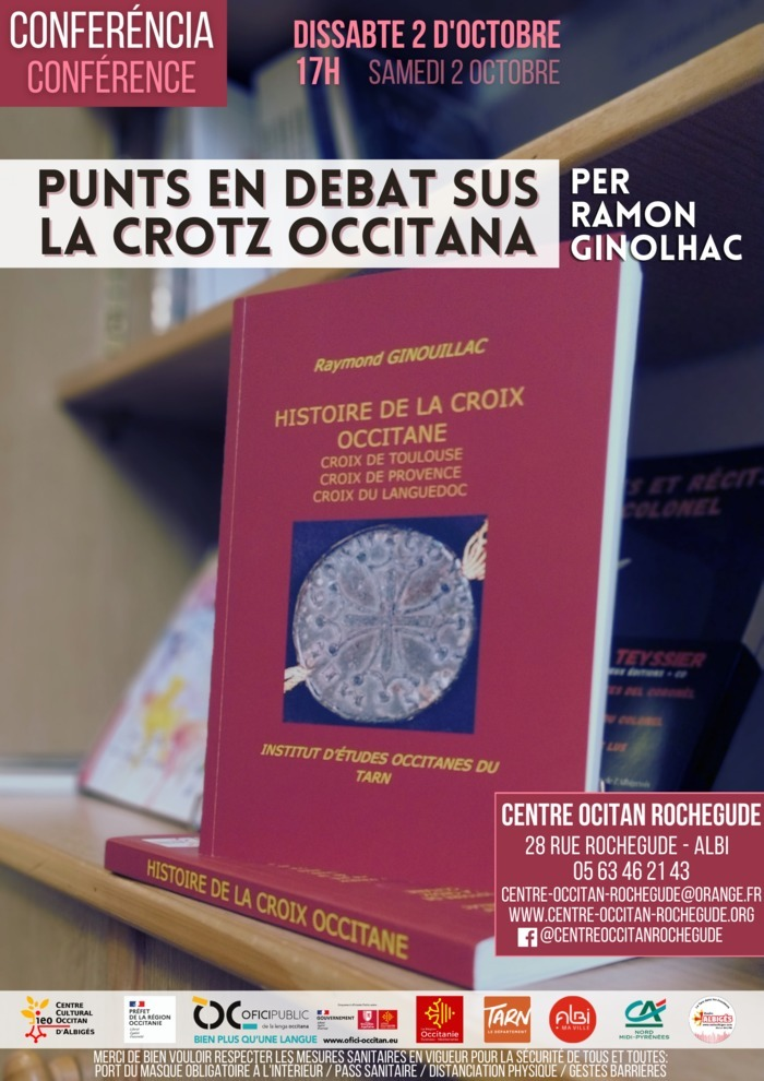"""Conférence-débat """"Points en débats sur la croix occitane"""" par Raymond Ginouillac"""