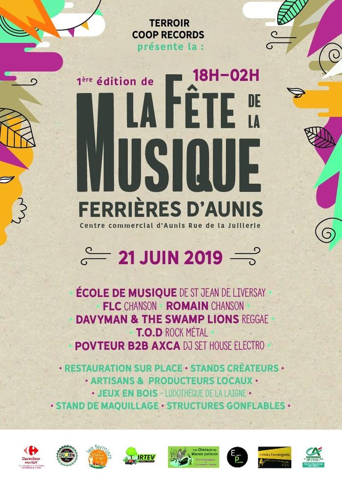 Fête de la musique 2019 - Plateau de l'Ecole de musique suivi de Groupes de Rock