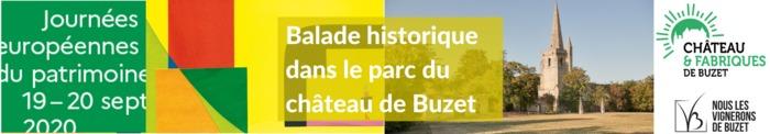 Journées du patrimoine 2020 - Visite guidée historique du parc du château de Buzet