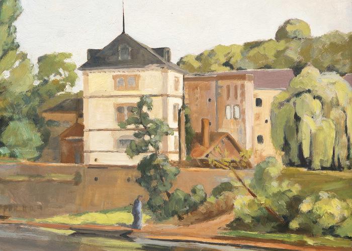 Journées du patrimoine 2019 - Visites guidées du bourg de Gouex et des tableaux de René Kunz exposés à la mairie.