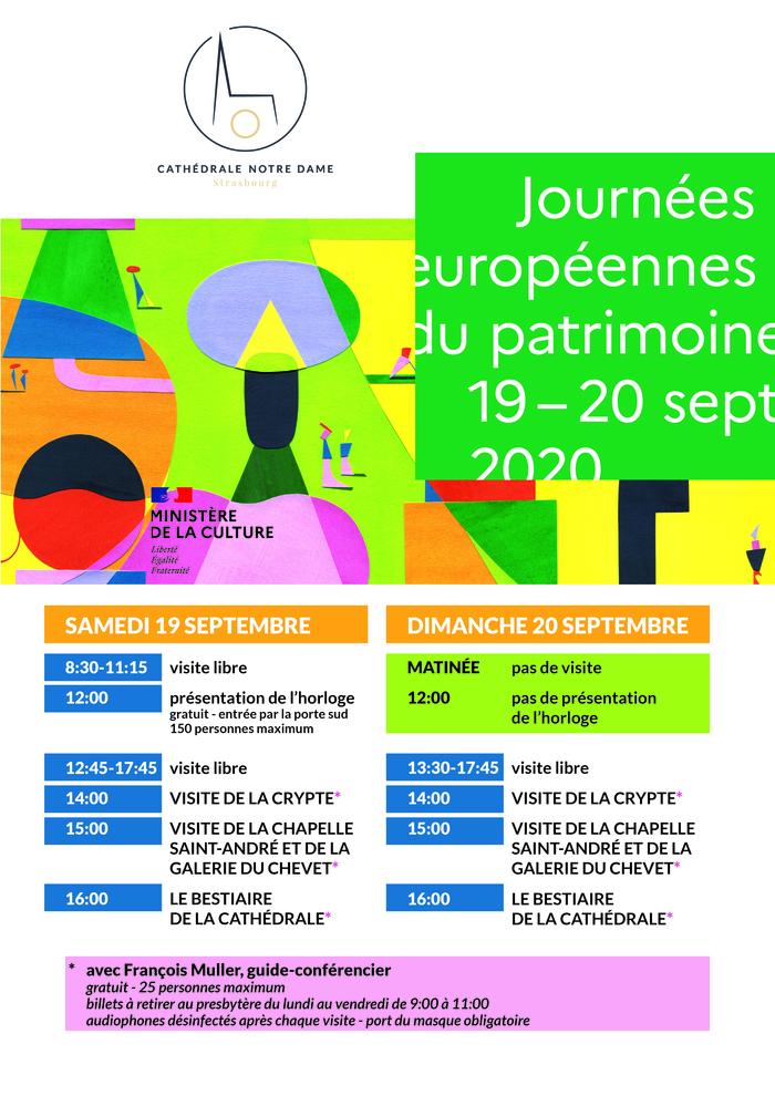 """Journées du patrimoine 2020 - Visite """"Le bestiaire de la Cathédrale"""""""