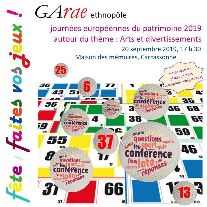 Journées du patrimoine 2019 - Conférences