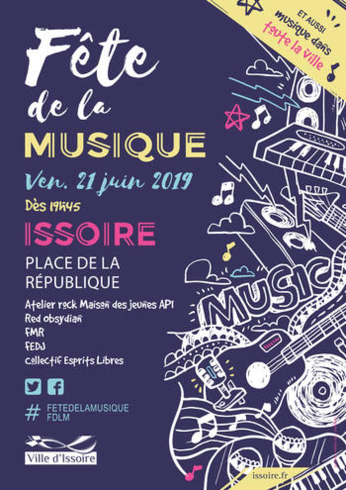 Fête de la musique 2019 - Atelier rock Maison des jeunes API / Red Obsydian / FMR / FEDJ / Collectif Esprits Libres