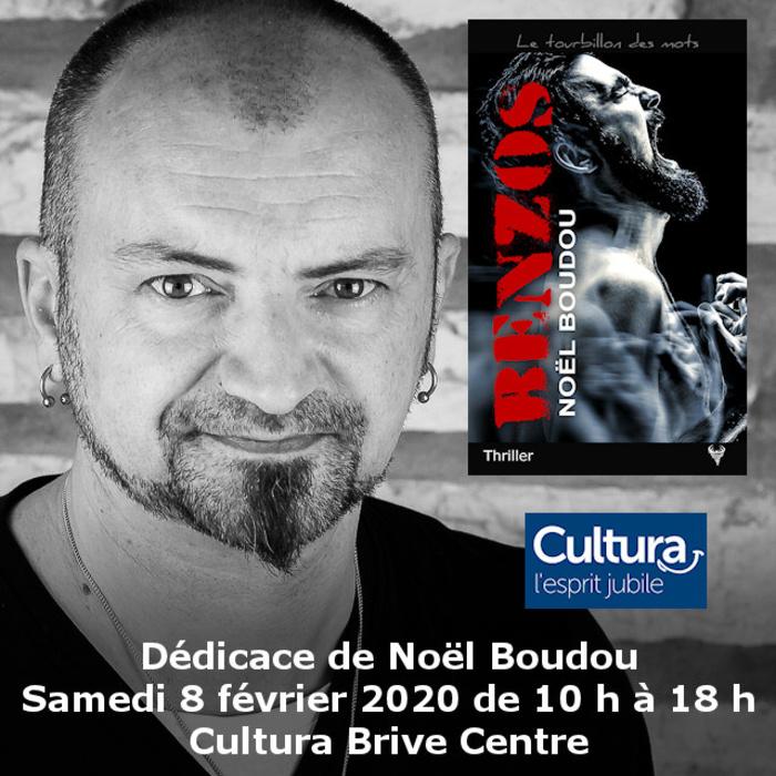 Dédicace Noël Boudou Cultura Brive-la-Gaillarde 8 février