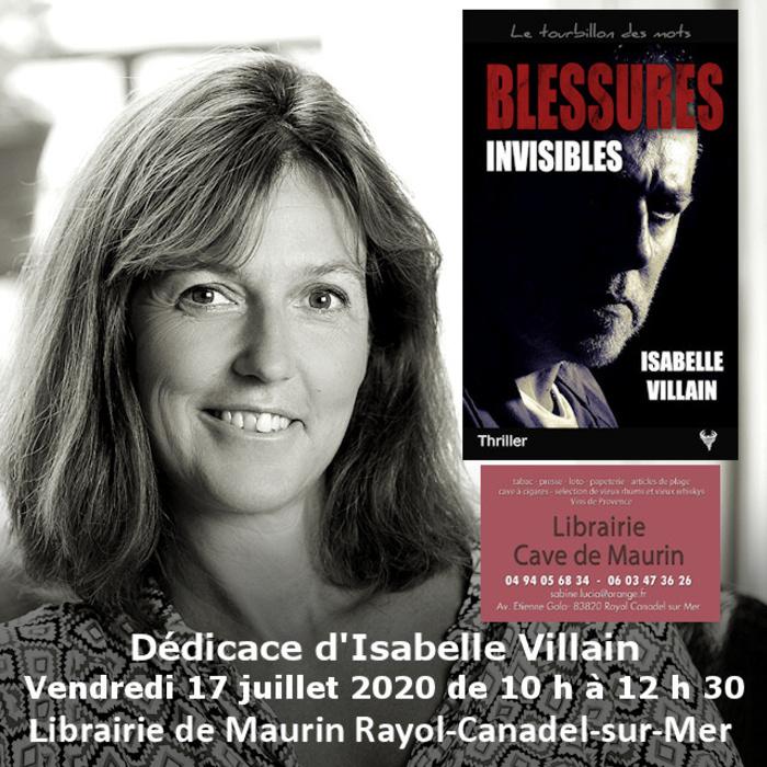 Dédicace Isabelle Villain Rayol-Canadel-sur-Mer vendredi 17 juillet 2020 librairie de Maurin 10 h à 12 h 30