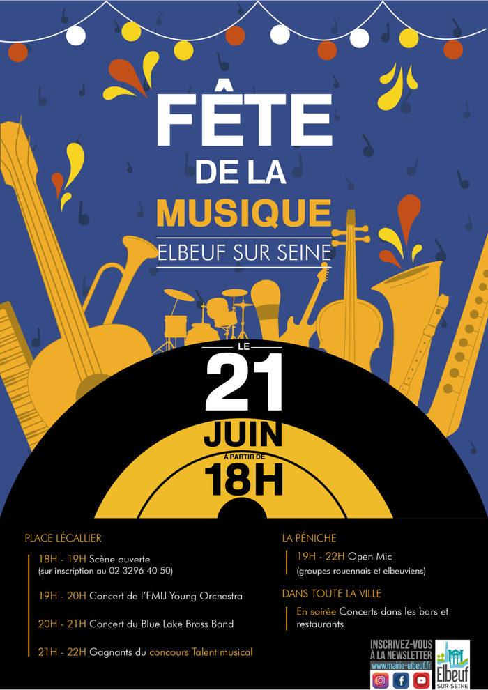 Fête de la musique 2019 - Scène ouverte / EMIJ / Blue Lake Brass Band / Gagnants du concours de talent musical