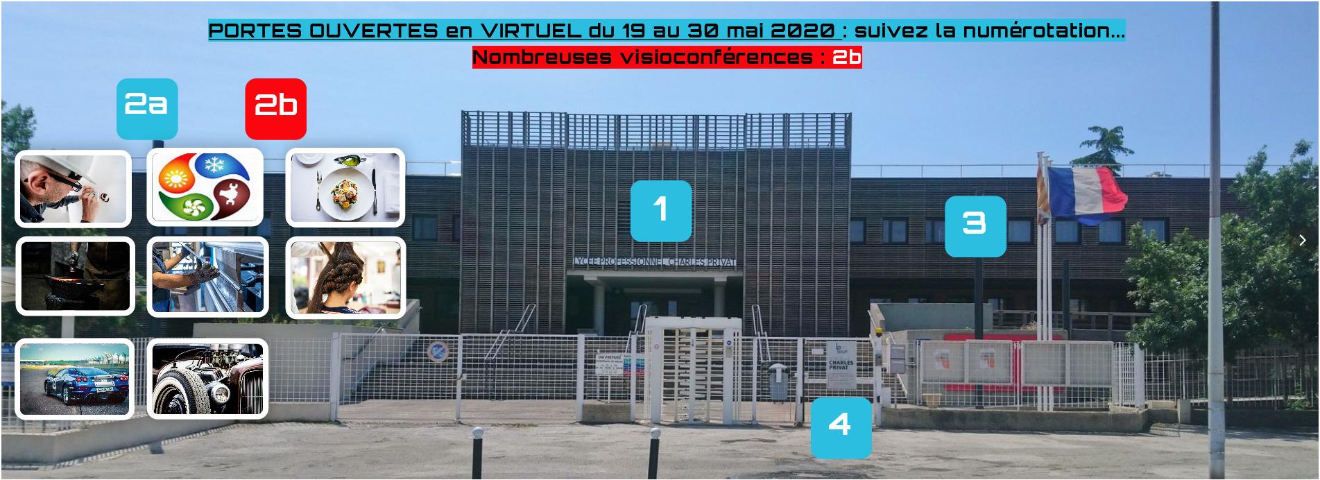 Portes Ouvertes Virtuelles les 19, 25 et 28 mai entre 16 et 20 heures