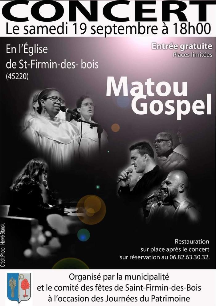 Journées du patrimoine 2020 - Concert Gospel