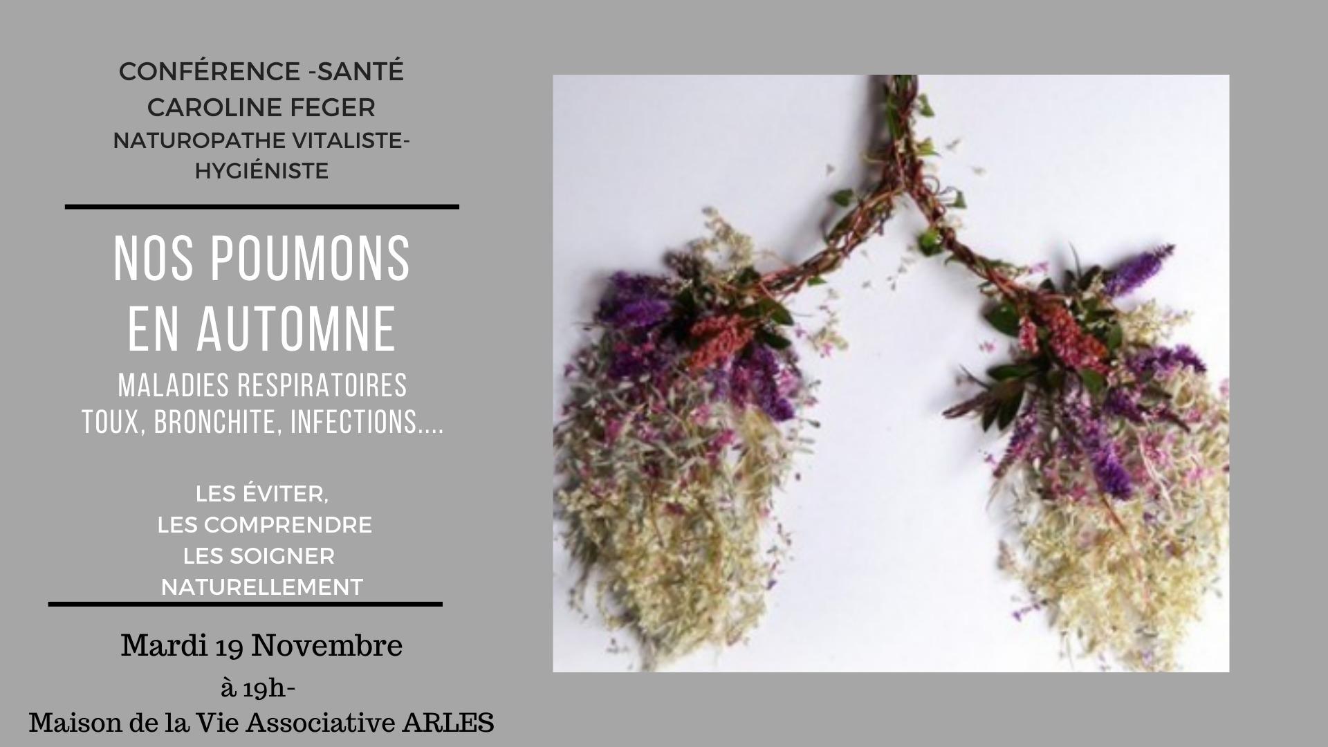 Caroline Feger, naturopathe vitaliste parlera des maladies respiratoires : toux, bronchite, Infections...