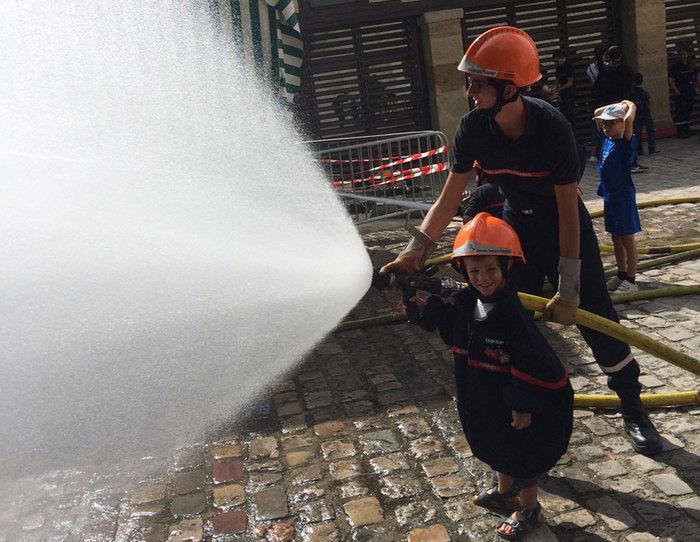 Journées du patrimoine 2019 - Démonstration des jeunes sapeurs-pompiers