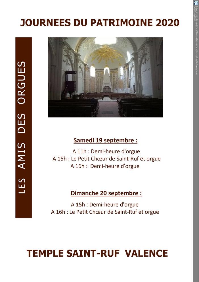Journées du patrimoine 2020 - Choeur et orgue
