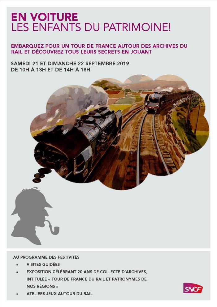 Journées du patrimoine 2019 - Atelier jeux autour des archives ferroviaires