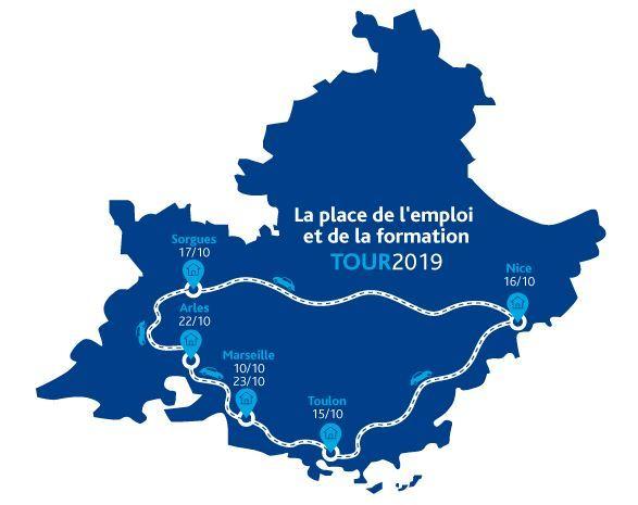 Venez faire le point sur votre recherche d'emploi et votre projet professionnel à l'occasion du passage du village itinérant « La Place de l'Emploi et de la Formation » à Arles.