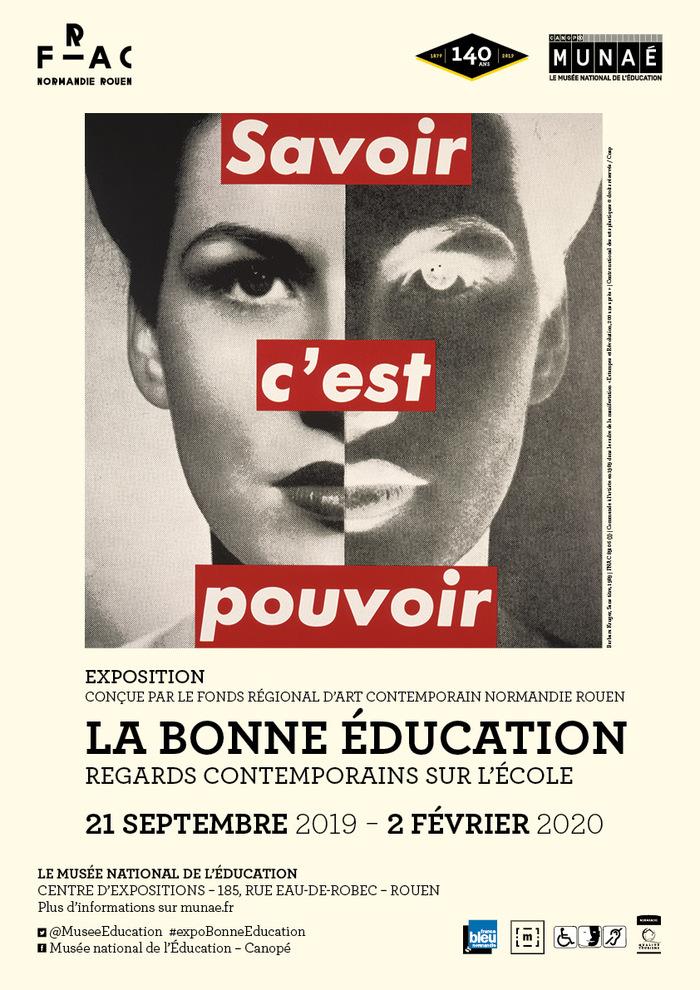 Journées du patrimoine 2019 - Inauguration de l'exposition « la bonne éducation.  Regards contemporains sur l'école »