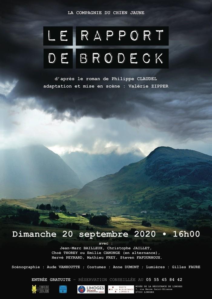 Journées du patrimoine 2020 - Spectacle « Le Rapport de Brodeck » par la Cie du Chien Jaune