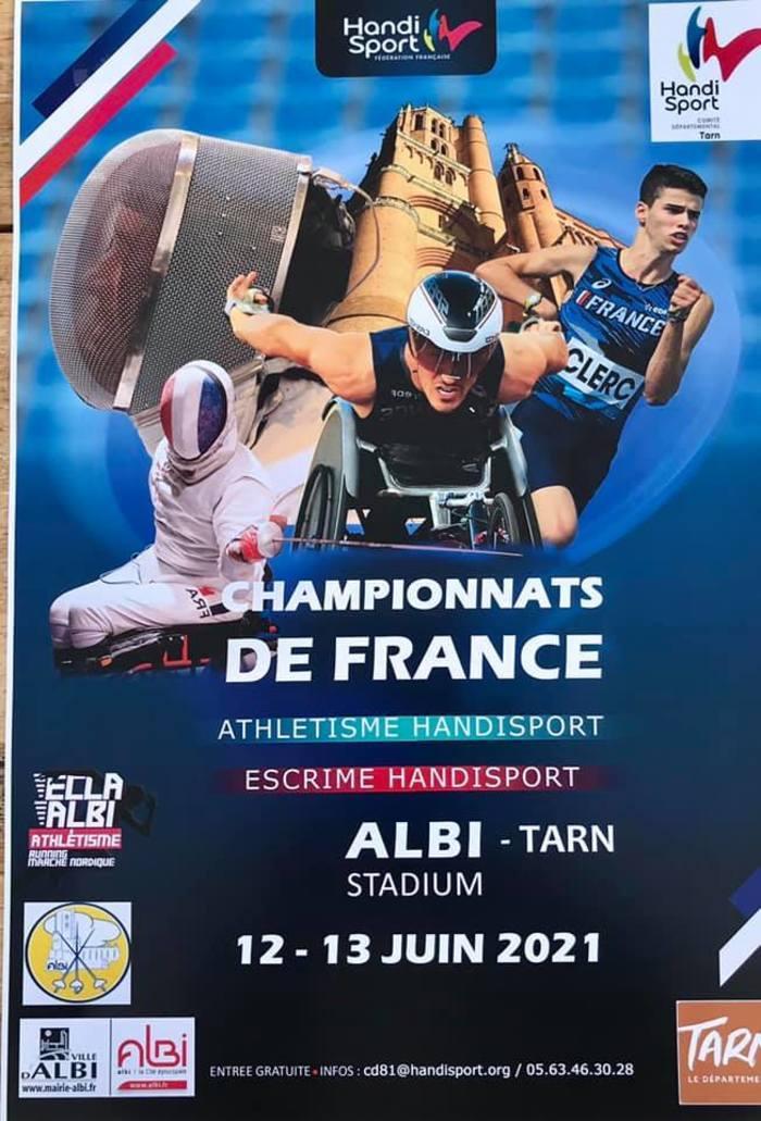 Escrime et Athlétisme : 2 championnats de France handisport, le Championnat de France Elite et le Championnat de France Toute Catégorie d'escrime auront lieu à Albi, les 12 et 13 juin prochain...