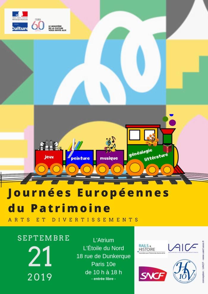 Journées du patrimoine 2019 - Les sources de l'histoire du personnel des chemins de fer et autres activités d'associations culturelles en entreprises