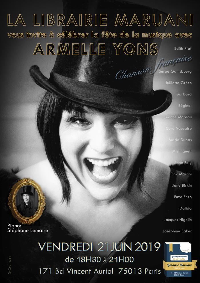 Fête de la musique 2019 - Armelle Yons se donne en spectable pour la Librairie Maruani