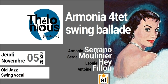 ARMONIA 4TET SWING BALLADE – THELONIOUS CAFE JAZZ CLUB