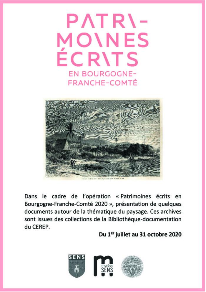 Journées du patrimoine 2020 - Exposition à la Bibliothèque documentation du CEREP