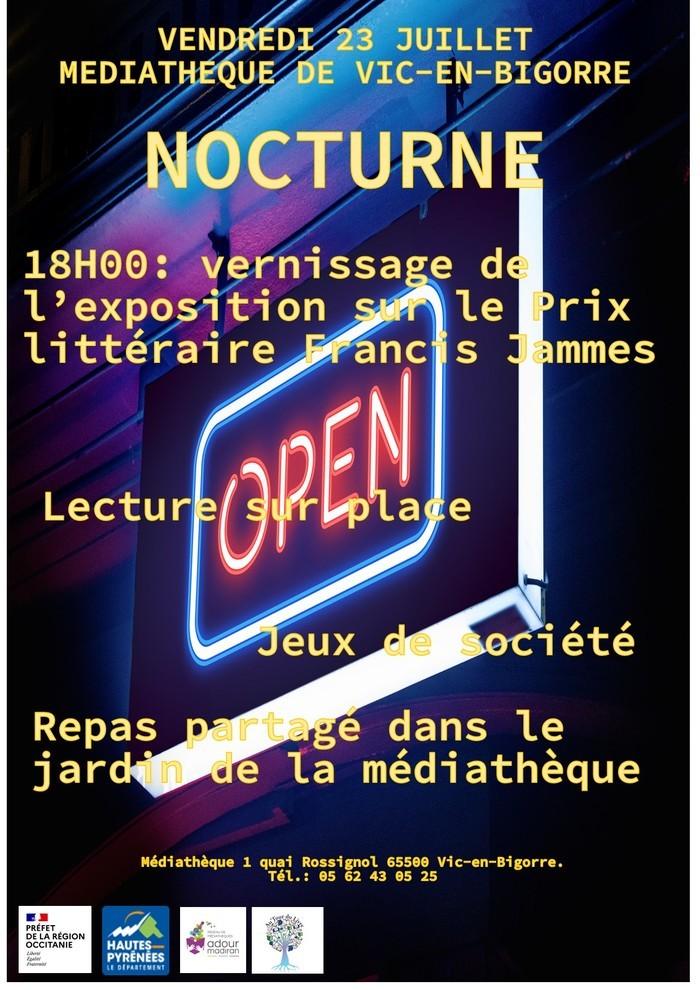 Nocturne à la médiathèque de Vic-en-Bigorre