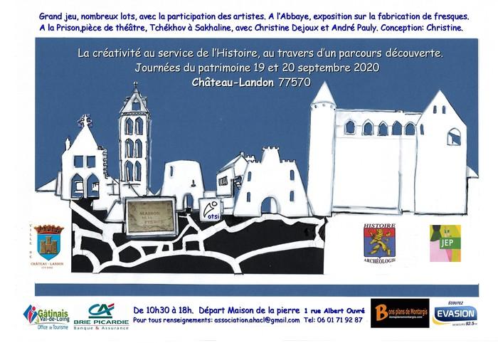 Journées du patrimoine 2020 - Château-Landon : la créativité au service de l'histoire