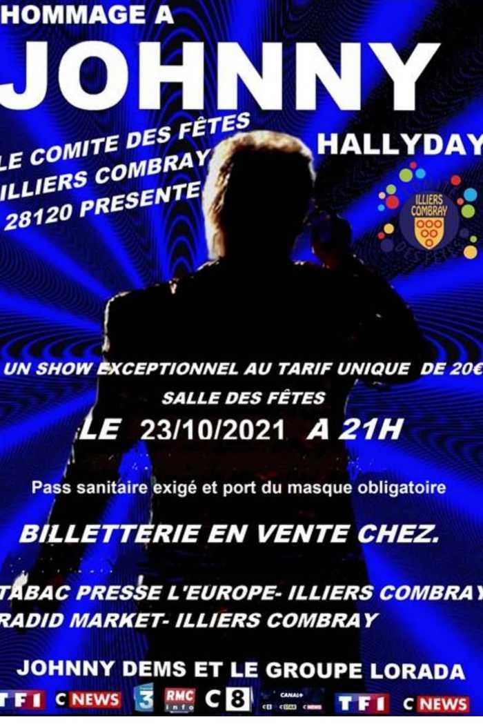Concert-hommage à Johnny Hallyday à Illiers-Combray le 23/10/2021