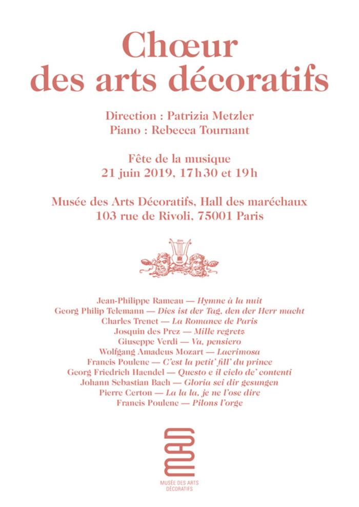 Fête de la musique 2019 - Choeur des Arts décoratifs