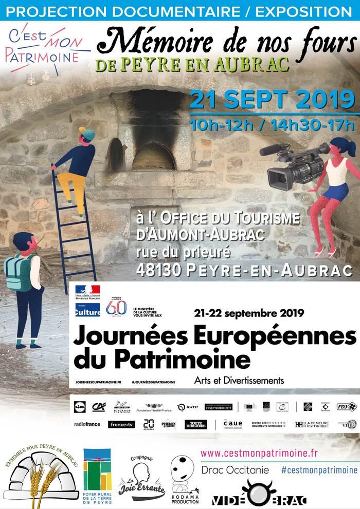 Journées du patrimoine 2019 - Projection-exposition