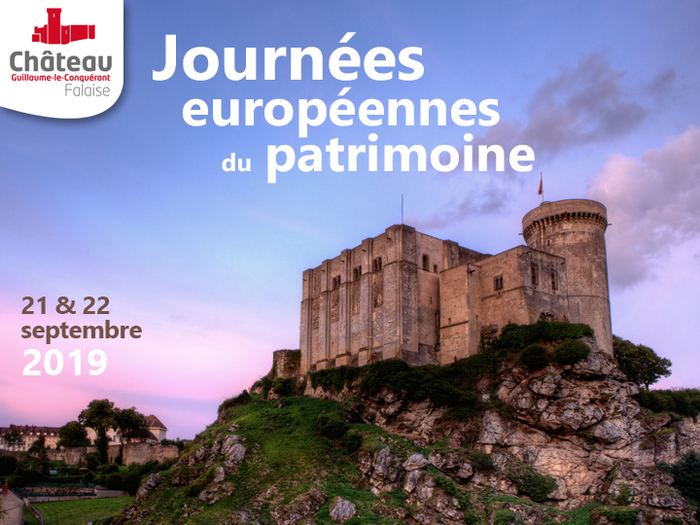Journées du patrimoine 2019 - Visite guidée des donjons du château Guillaume-le-Conquérant.