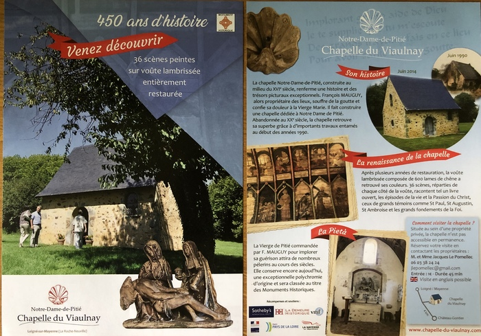 Journées du patrimoine 2019 - Visite guidée de la chapelle Notre Dame de Pitié (16ème siècle)
