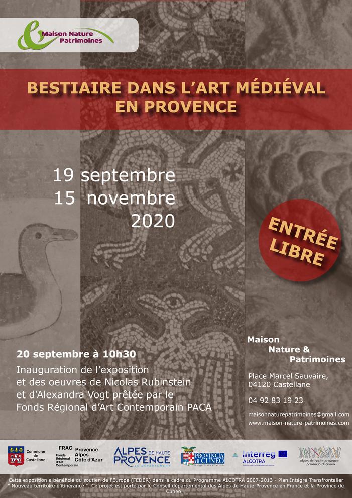 Journées du patrimoine 2020 - Inauguration de l'exposition « Bestiaire dans l'art médiéval en Provence »